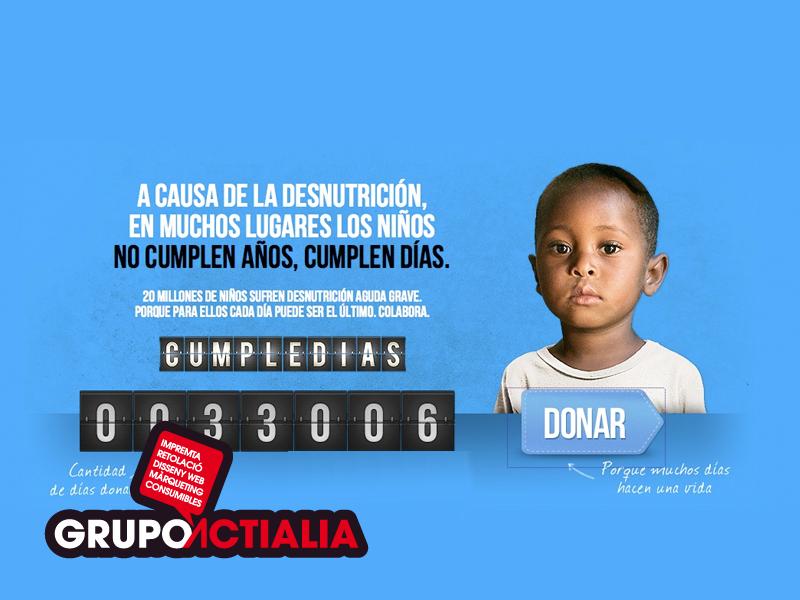 """Grupo Actialia participa en """"Cumple Días"""" Unicef"""