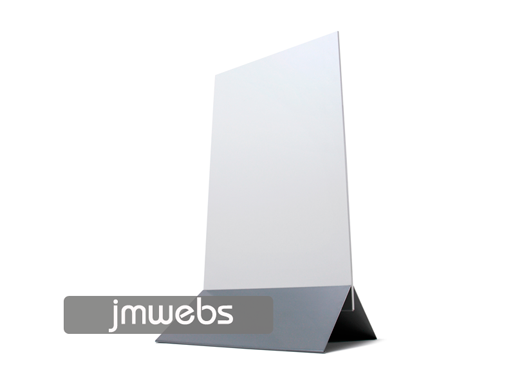 Panel stand display con pie de aluminio