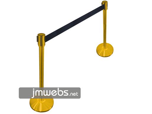 Postes separadores de pie con cinta retráctil