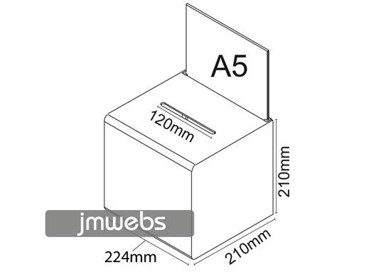 Urnas metacrilato con portagráfica 20,7x18cm y cerradura
