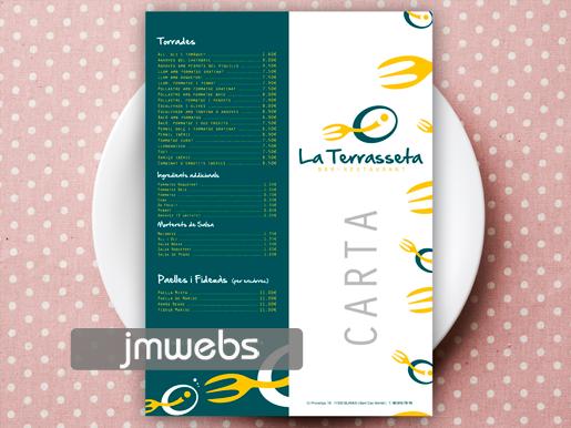 Cartas menús dípticos a4 a a5