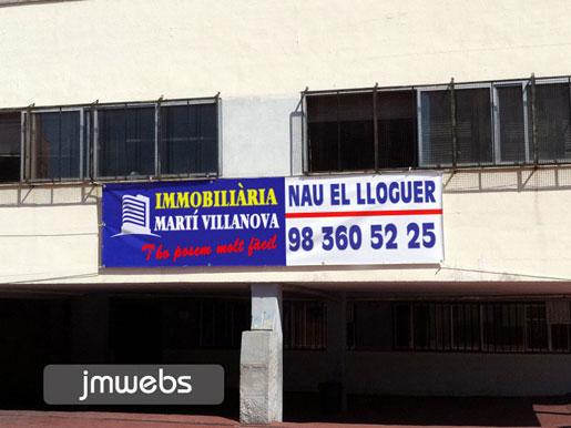 PANCARTELES EN VENTA DE LONA INMOBILIARIAS