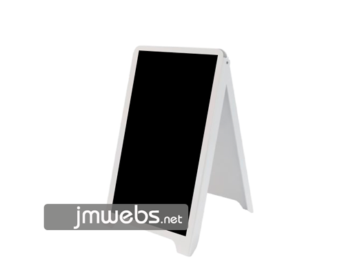 Pizarra caballete de plástico con pizarra para restaurantes 50x88cm 2 caras