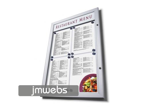 Vitrina exterior cartas de menú restaurante 4xa4