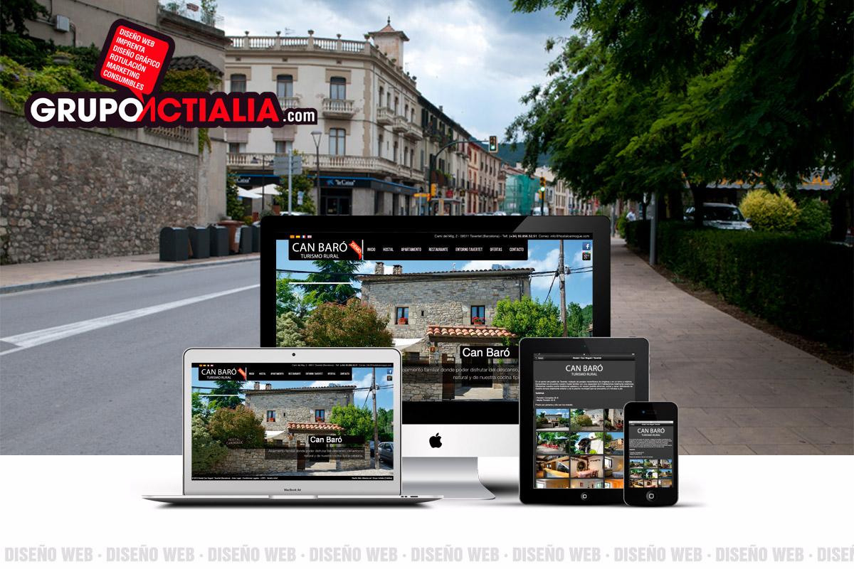 Grupo Actialia diseño web Besalú