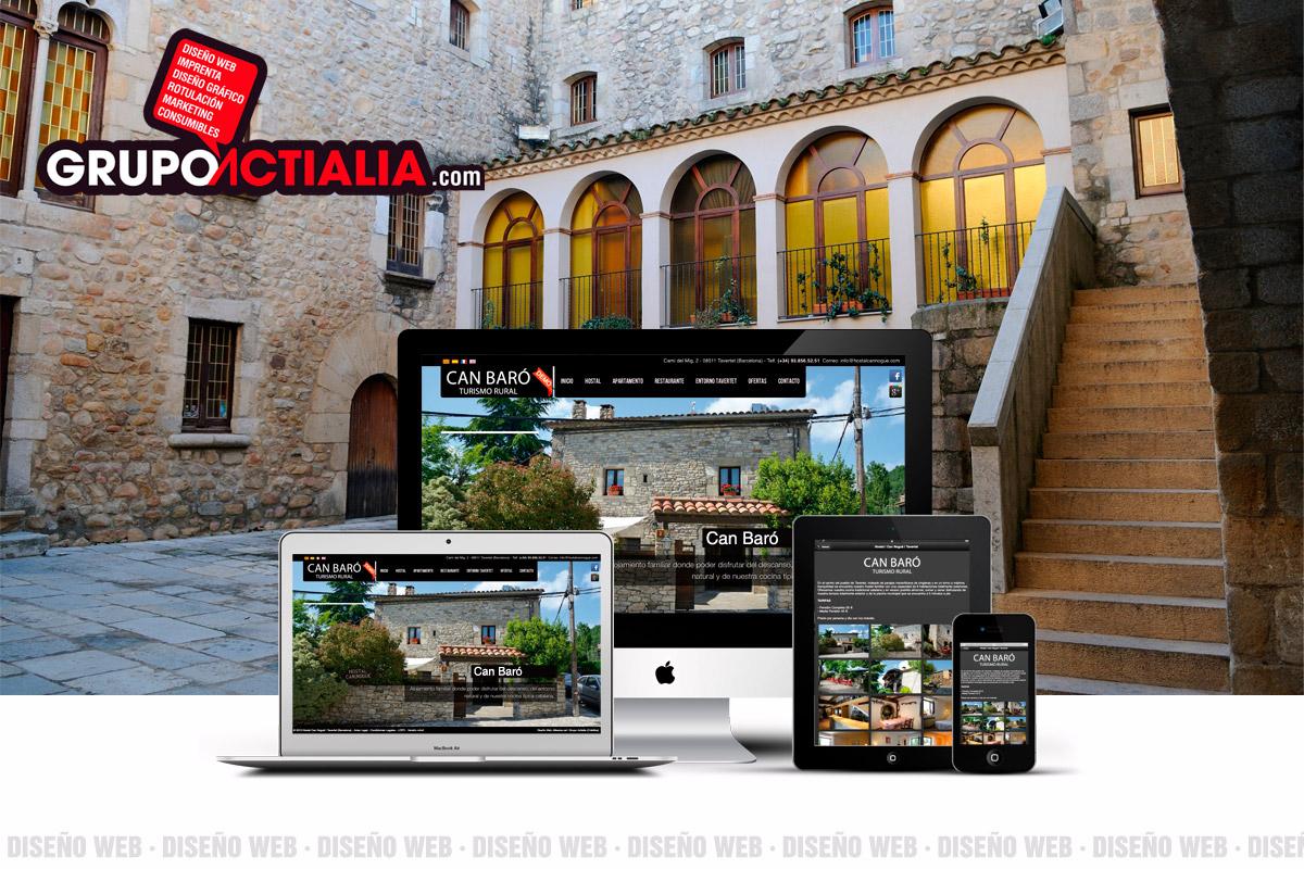 Grupo Actialia diseño web Breda