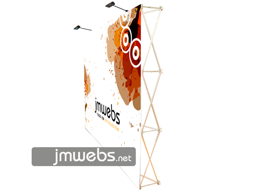 Photocall pop-up stand display basic con velcro