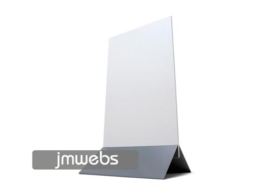 Panel stand display con pie de aluminio