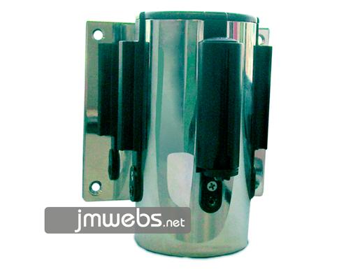 Postes separadores fijación pared con cinta retráctil