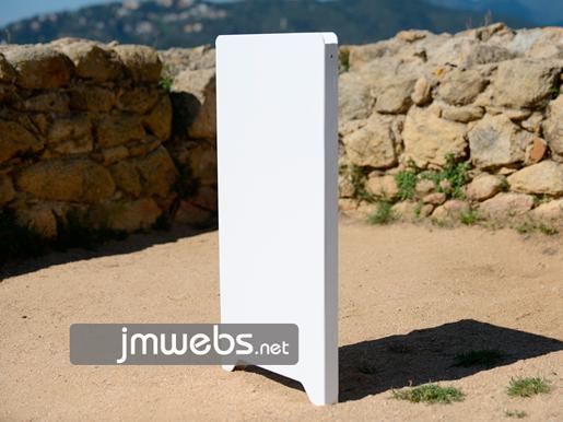 Pizarra caballete de plástico para restaurantes 50x88cm 2 caras