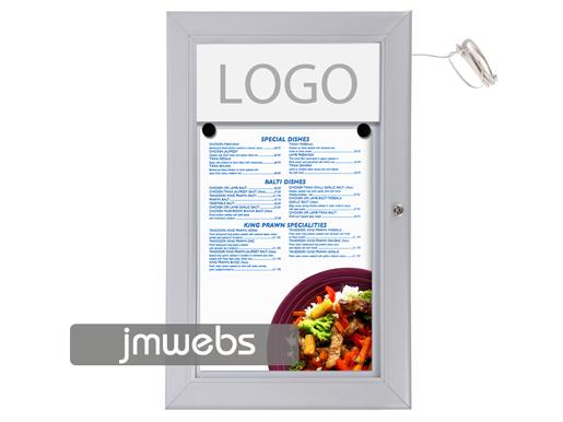 Vitrina exterior cartas de menú restaurante 1xa4 led