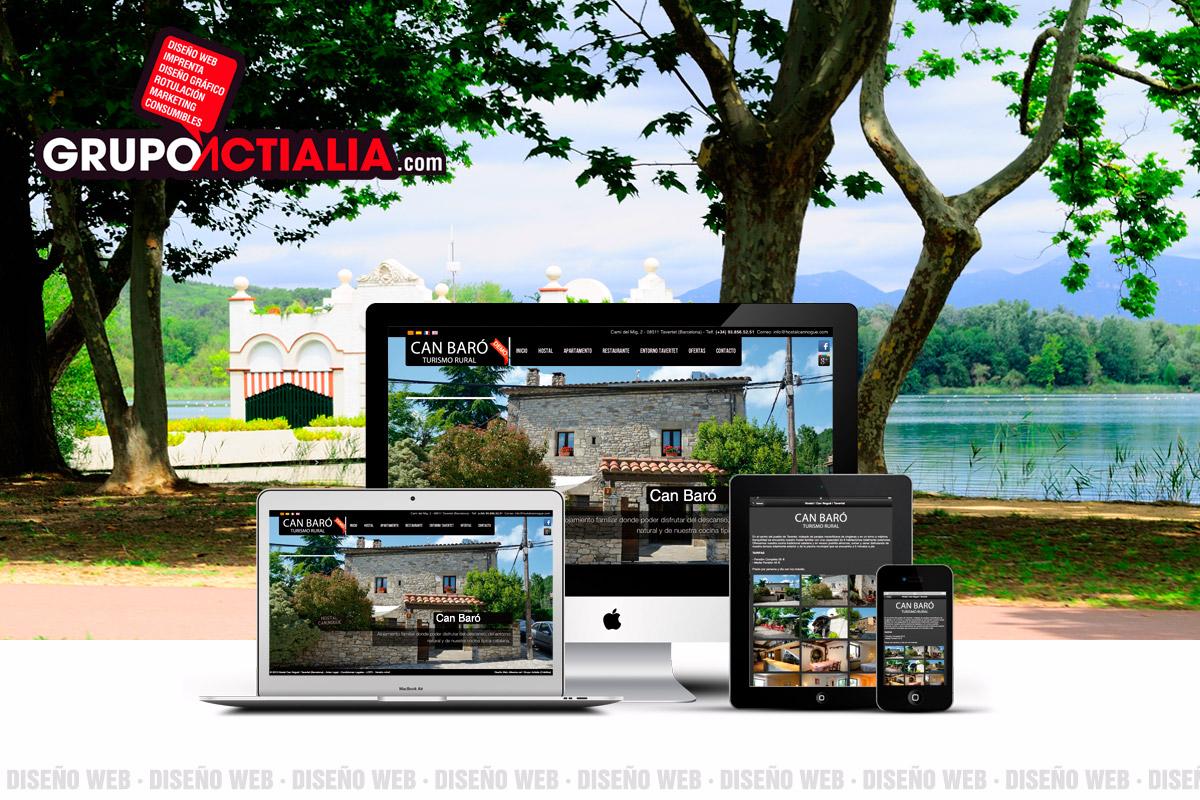 Grupo Actialia diseño web Banyoles