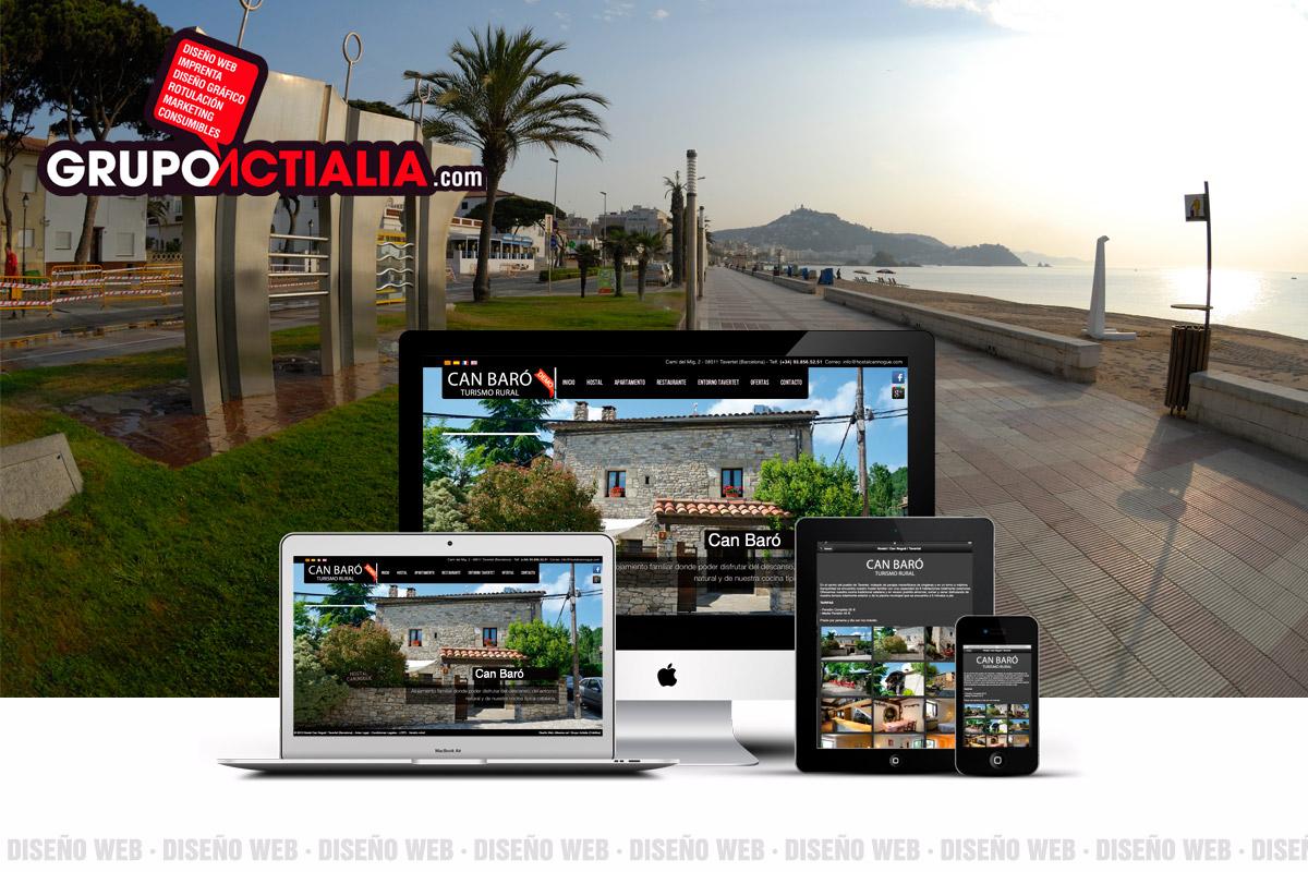 Grupo Actialia diseño web Blanes